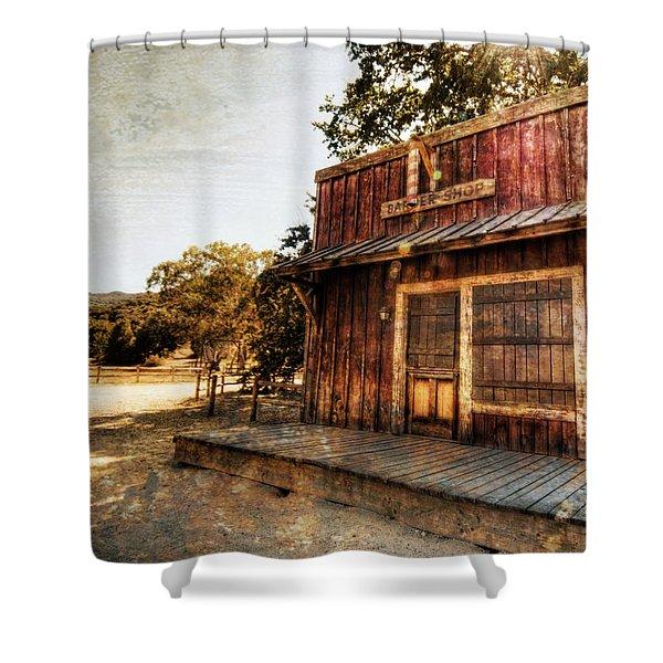 Western Barber Shop Shower Curtain