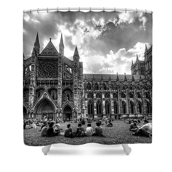 Westminster Abbey Mono Shower Curtain