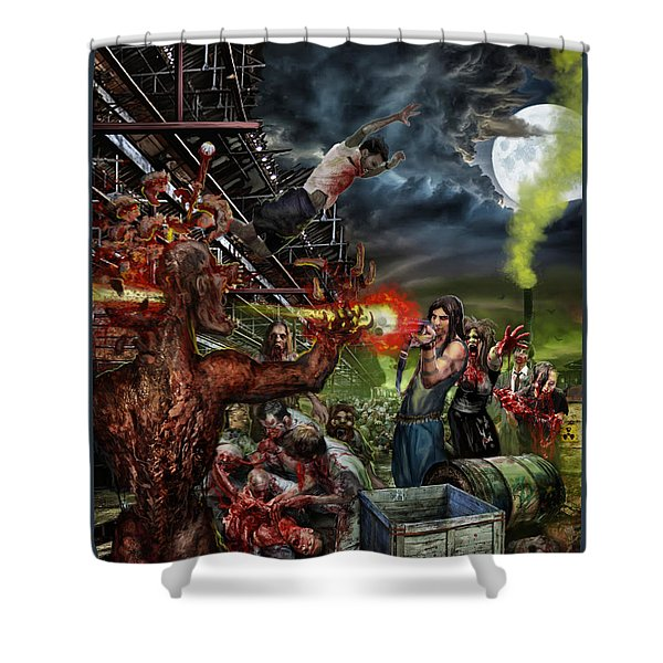 When Food Is Gone We Become.. Shower Curtain