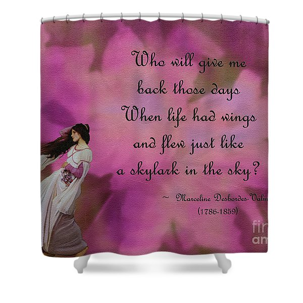 When Life Had Wings Shower Curtain