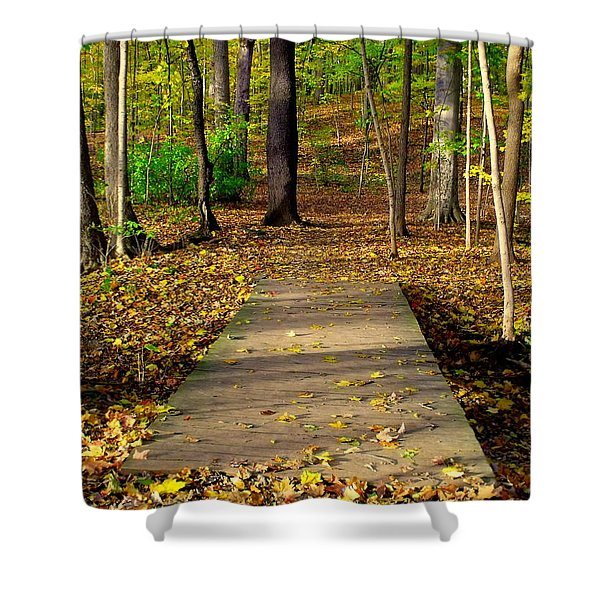 Where The Side Walk Ends Shower Curtain
