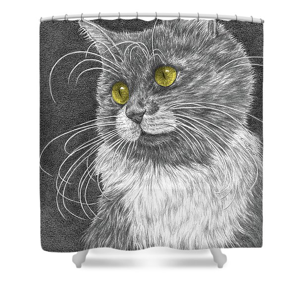 Whiskers - Color Tinted Art Print Shower Curtain