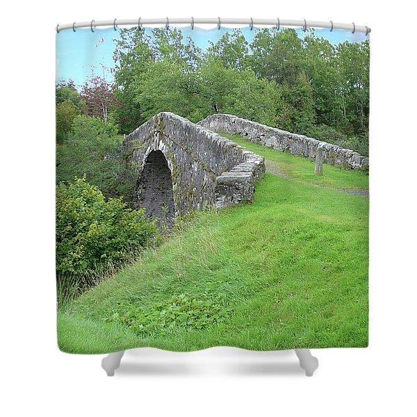 White Bridge Scotland Shower Curtain