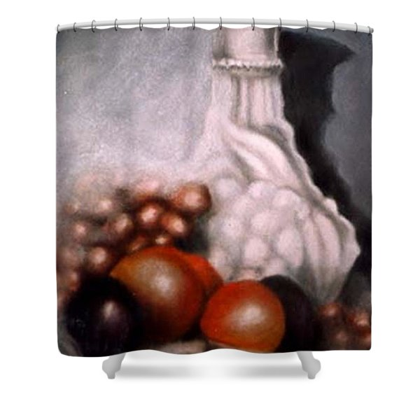 White Carafe Shower Curtain