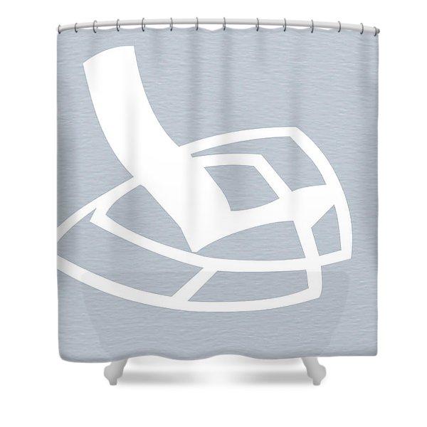 White Rocking Chair Shower Curtain