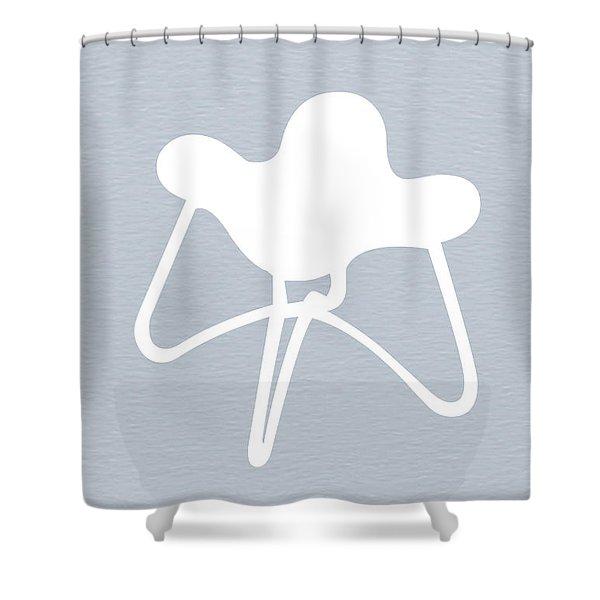 White Stool Shower Curtain