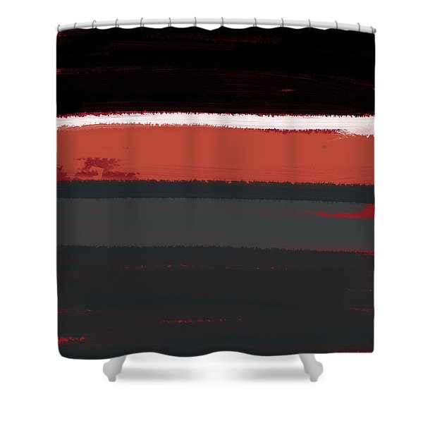 White Stripe Shower Curtain