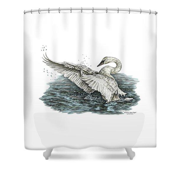 White Swan - Dreams Take Flight-tinted Shower Curtain