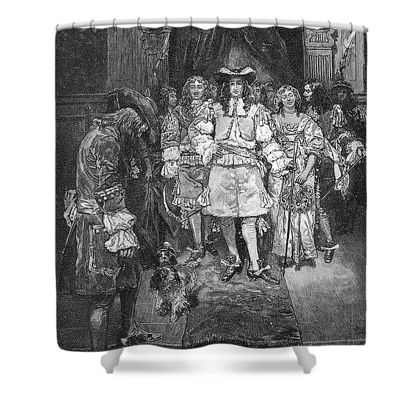 William Penn And Charles II Shower Curtain
