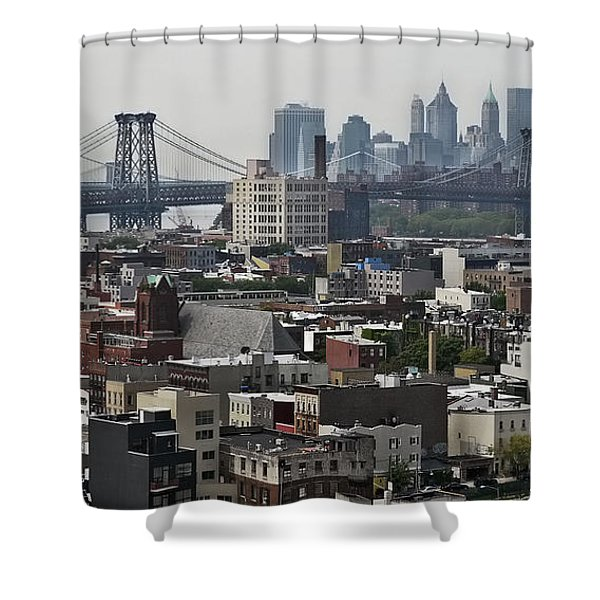 Williamsburg Bridge Shower Curtain