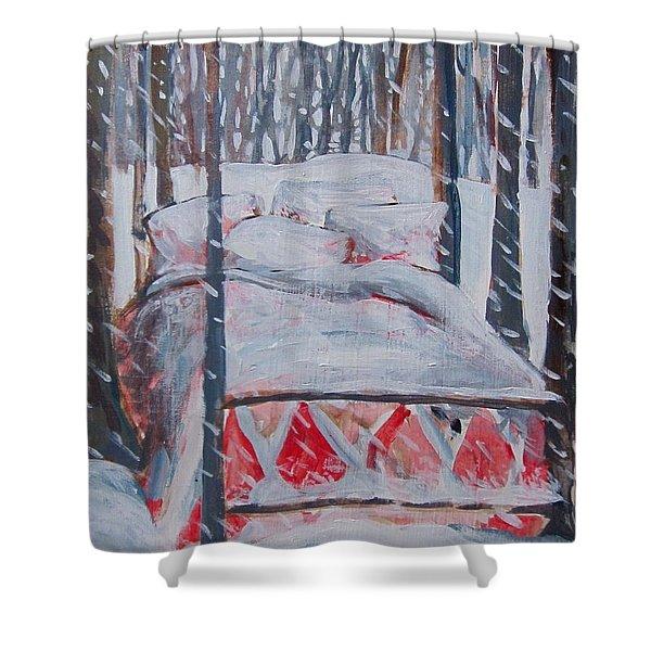Winter Hybernation Shower Curtain
