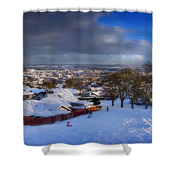 Winter In Inverness Shower Curtain