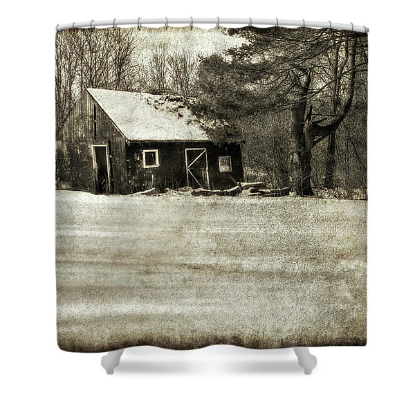 Winter Textures Shower Curtain