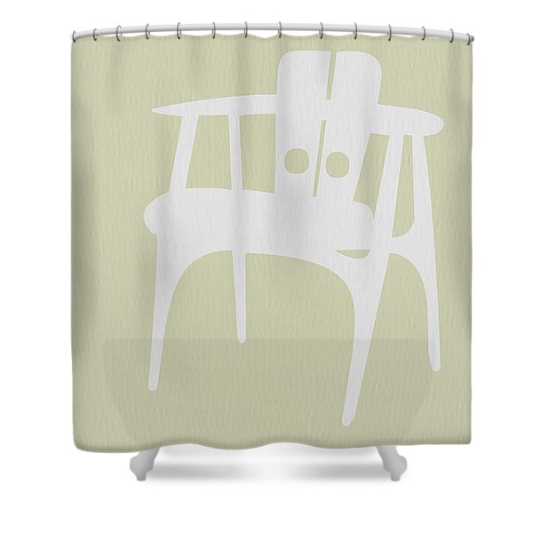 Wooden Chair Shower Curtain