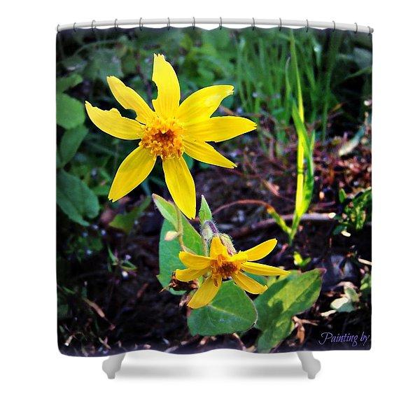 Woods Flower Shower Curtain