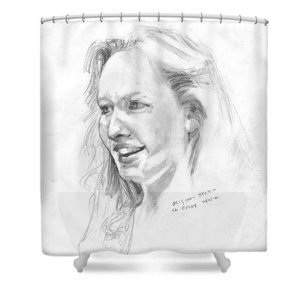 Working From The Model - Cindy  Shower Curtain