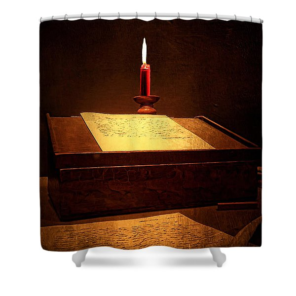 Written Past- Writers Paintings Shower Curtain