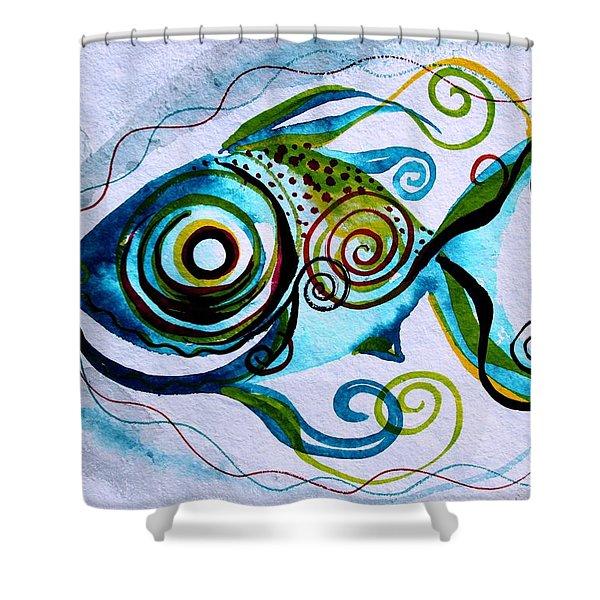 Wtfish 006 Shower Curtain