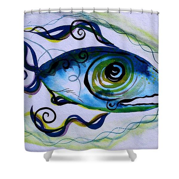 Wtfish 009 Shower Curtain
