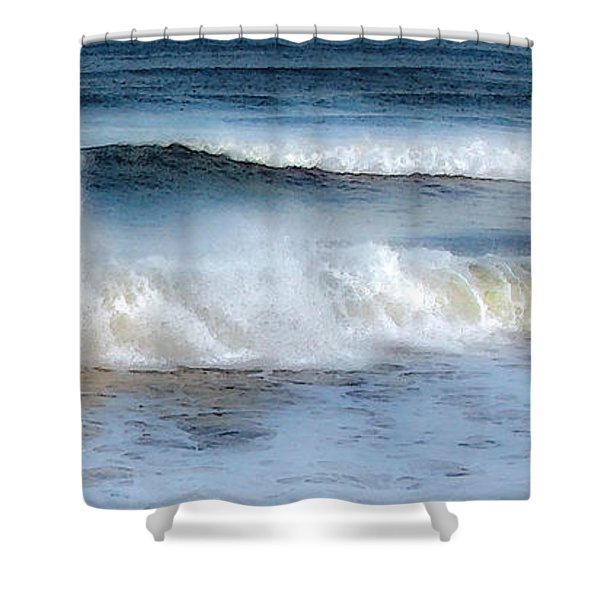 Zen Wave Shower Curtain