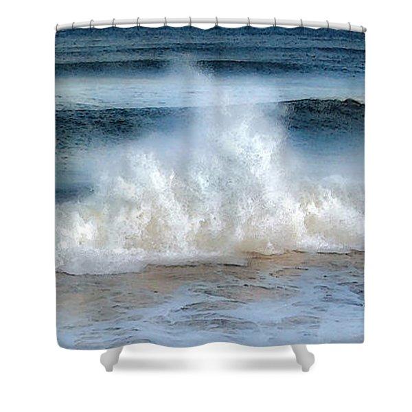 Zen Wave Shower Curtain