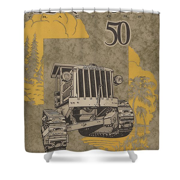 Allis Chalmers Monarch Tractor Vintage Poster Shower Curtain