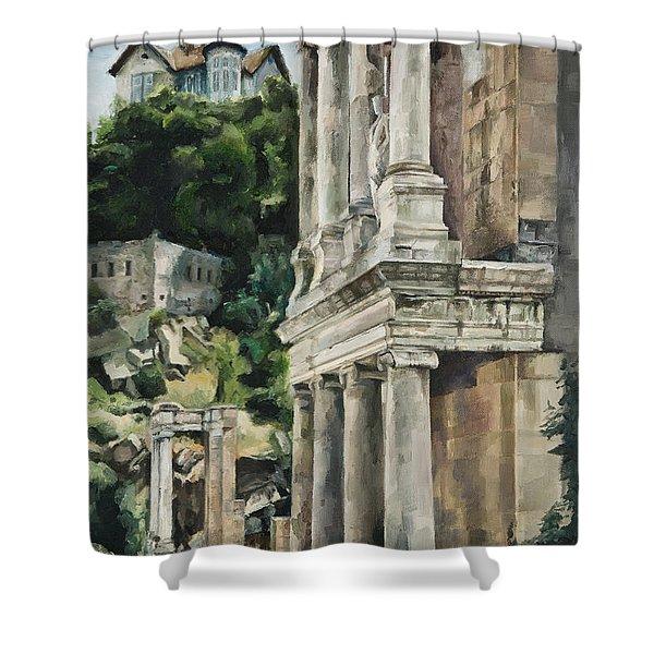 Ancient Amphitheater Shower Curtain