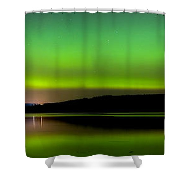 Aurora Over The Beauly Firth Shower Curtain