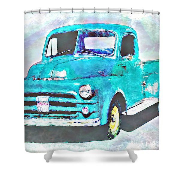 Dodge Pickup Shower Curtain