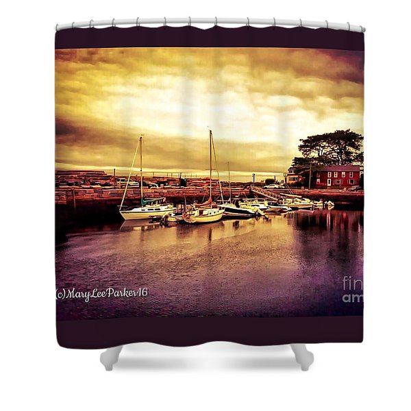 Down At The Dock Shower Curtain
