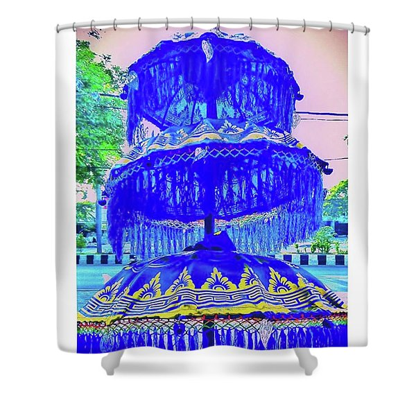 💭💙 Every Time You Plan Something Shower Curtain