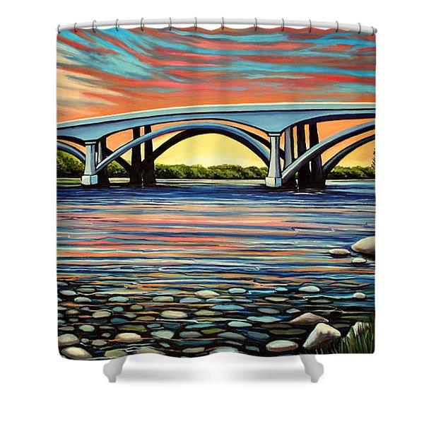 Folsom Bridge Shower Curtain