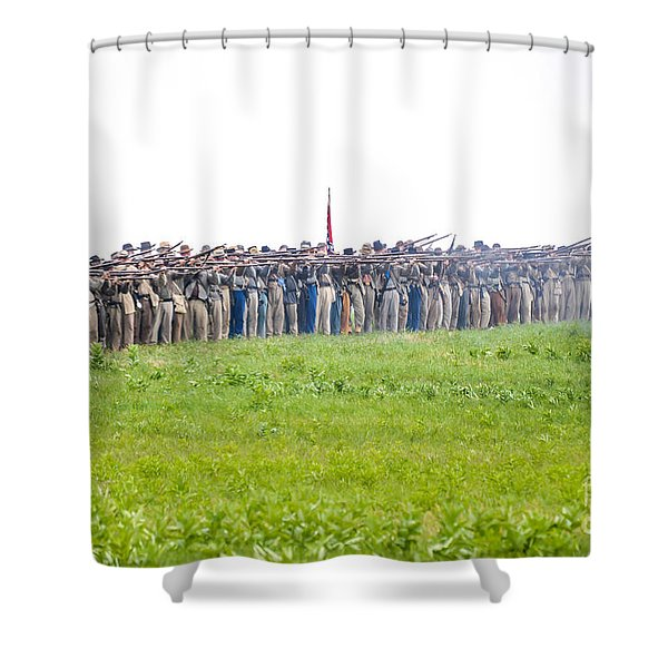 Gettysburg Confederate Infantry 0157c Shower Curtain