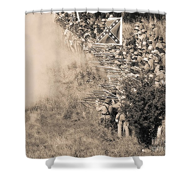 Gettysburg Confederate Infantry 8769s Shower Curtain