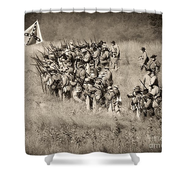 Gettysburg Confederate Infantry 9015s Shower Curtain