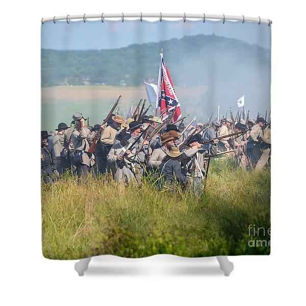 Gettysburg Confederate Infantry 9214c Shower Curtain