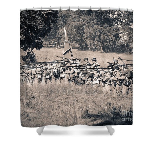 Gettysburg Confederate Infantry 9270s Shower Curtain