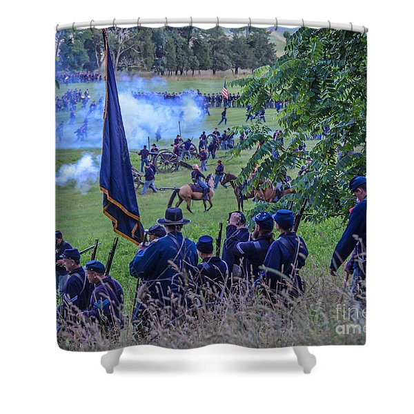 Gettysburg Union Artillery And Infantry 7459c Shower Curtain