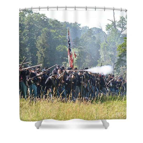 Gettysburg Union Infantry 9372c Shower Curtain