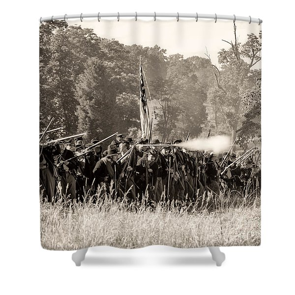 Gettysburg Union Infantry 9372s Shower Curtain
