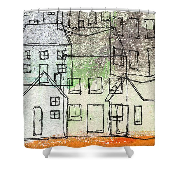 Houses By The River Shower Curtain