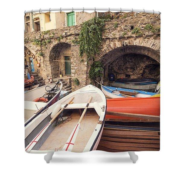 Il Porto Barca Shower Curtain