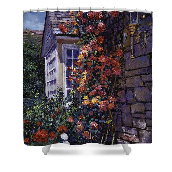 Magnificent Climbing Roses Shower Curtain