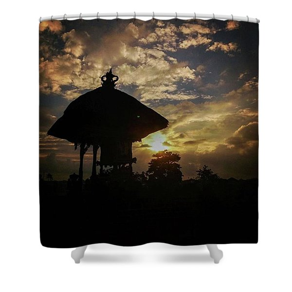 Balinese Temple Shower Curtain