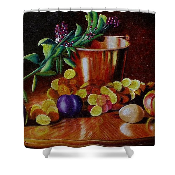 Pail Of Plenty Shower Curtain