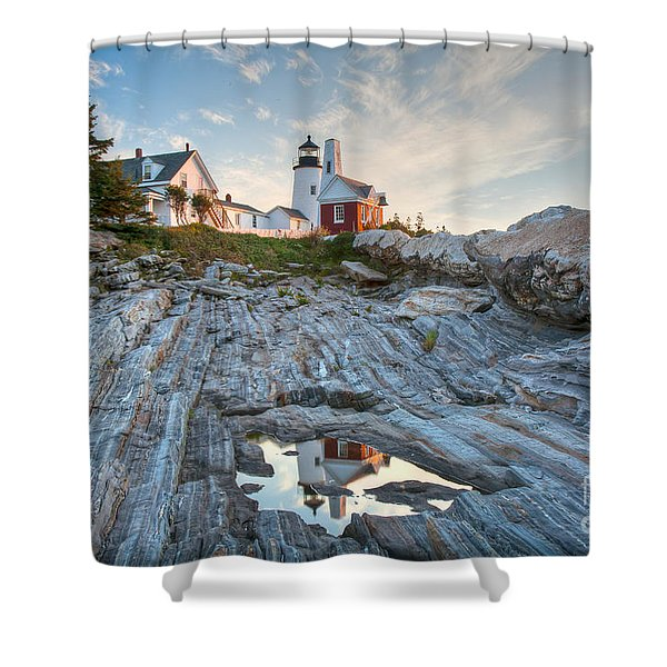 Pemaquid Point Reflection Shower Curtain