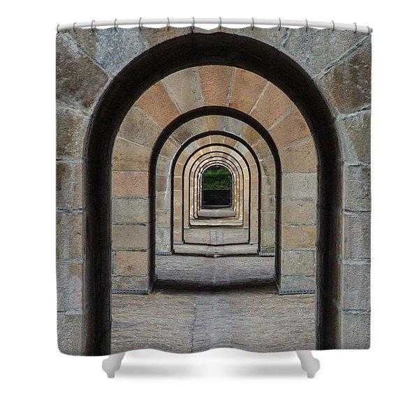 Receding Arches Shower Curtain