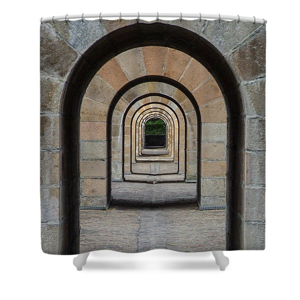 Receding Arches Shower Curtain