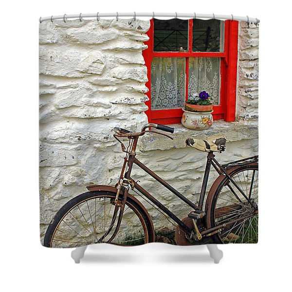 Red Window Shower Curtain