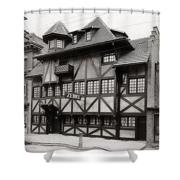 Scranton Pa Zenke's Alt Heidelberg Restaurant Early 1900s Shower Curtain